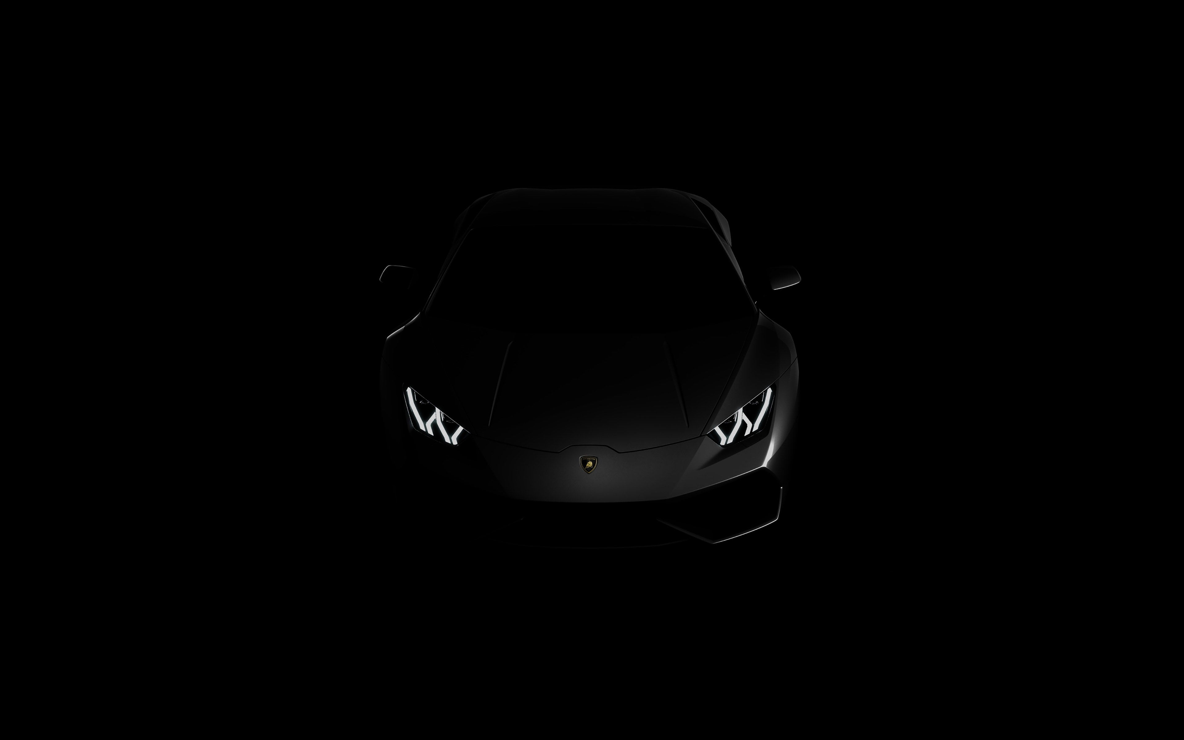 Fall Desktop Wallpaper 2500x1600 Af29 Lamborghini Huracan Lp Black Dark Papers Co