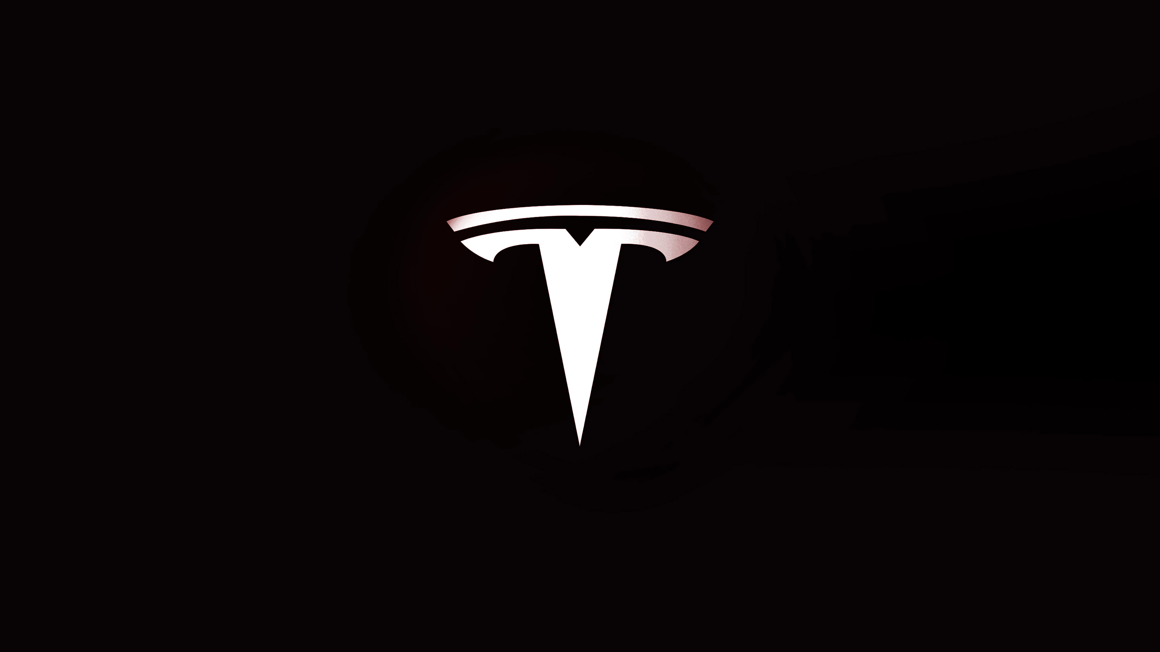 White Wave 3d Wallpaper Af30 Tesla Motors Logo Art Papers Co