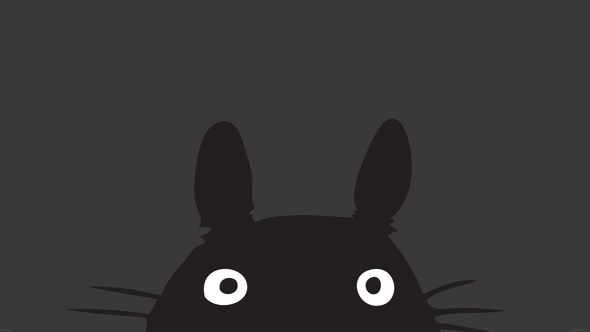 Android Lollipop Wallpaper Hd 1080p Wallpaper For Desktop Laptop Af44 Totoro Minimal Art