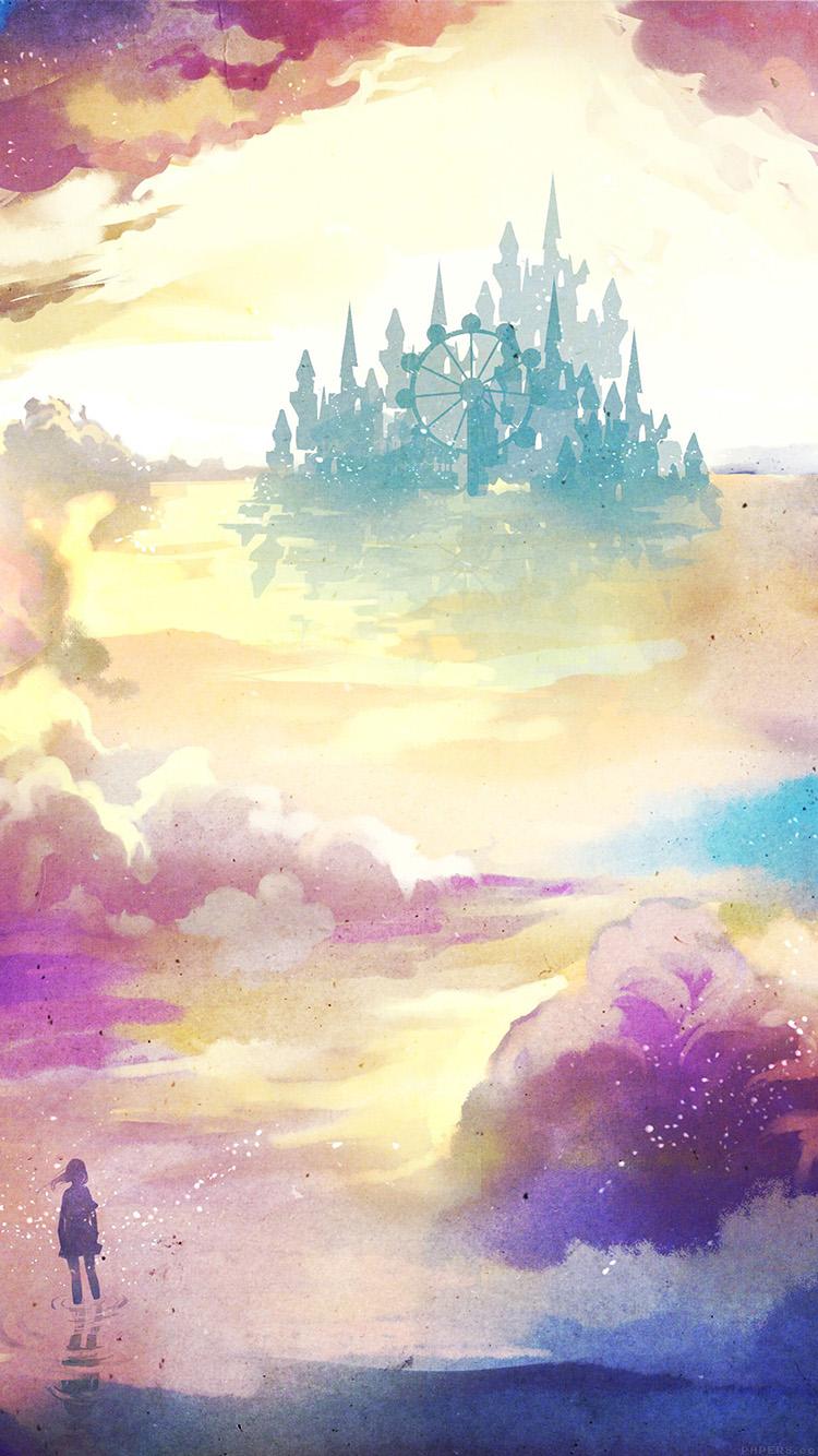 Wallpaper For Iphone 5s Black Ag06 Kanehiko Fantasy Illust Watercolor Art