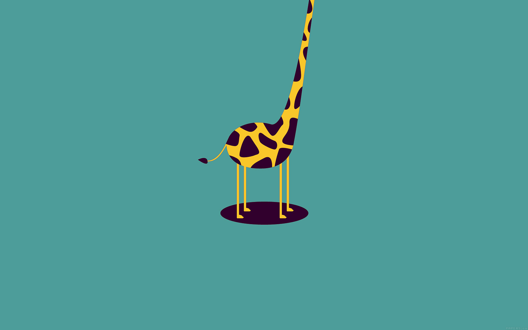 Fun Fall Desktop Wallpaper Ag52 Giraffe Cute Blue Minimal Simple Wallpaper