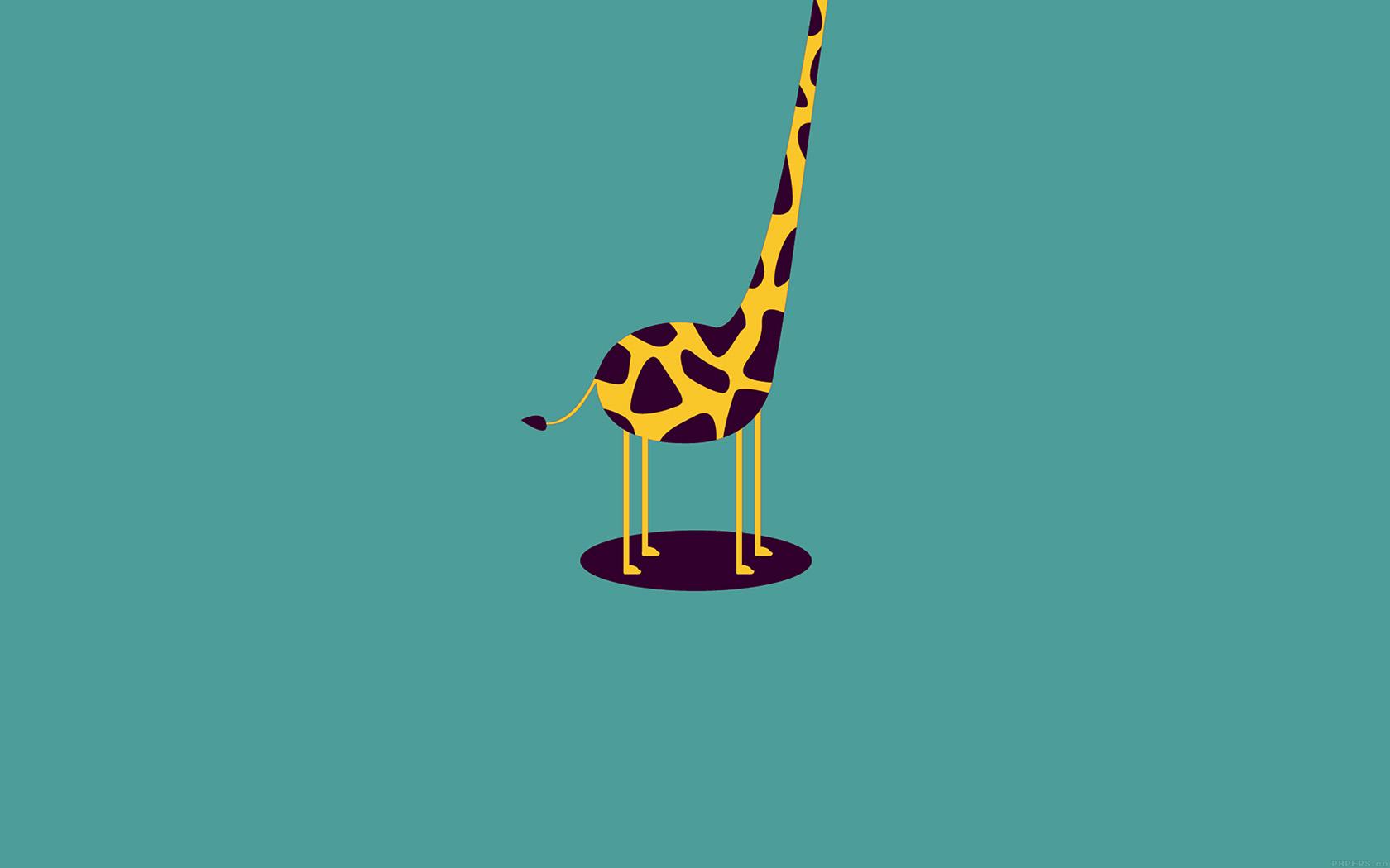 Street Bike Girl Wallpapers Ag52 Giraffe Cute Blue Minimal Simple Wallpaper
