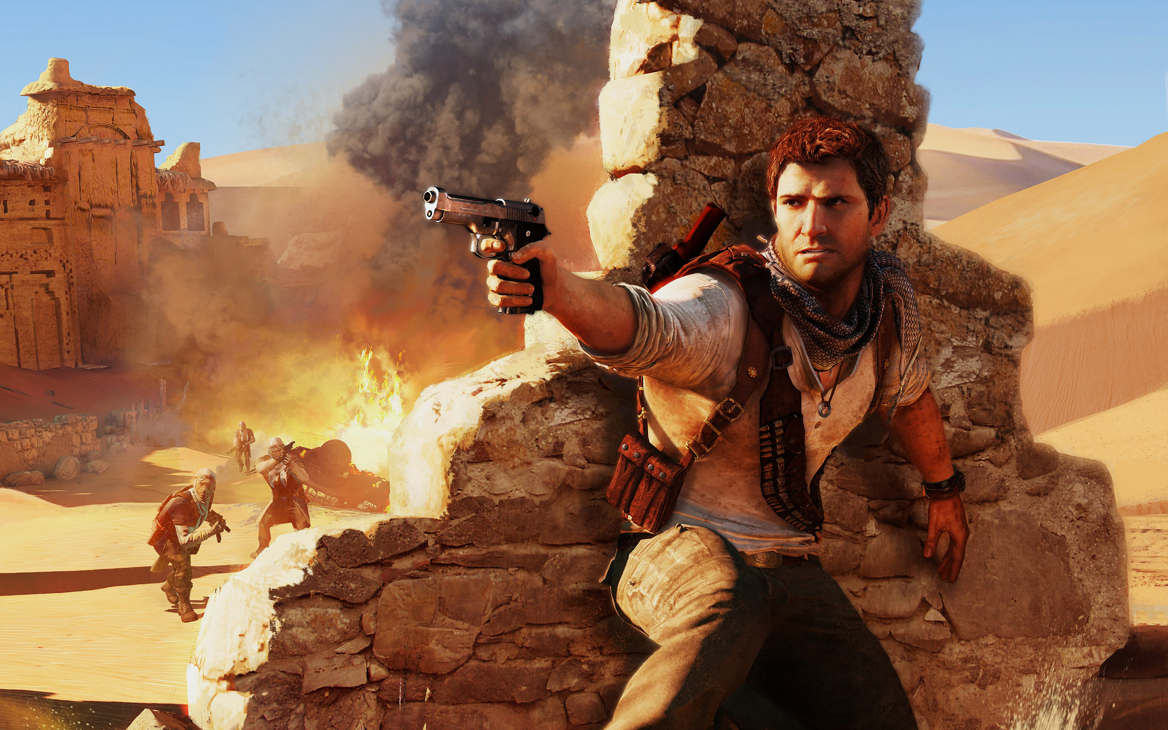 Hd Wallpaper Yosemite Fire Fall Ah09 Drake Under Fire Uncharted Game Papers Co
