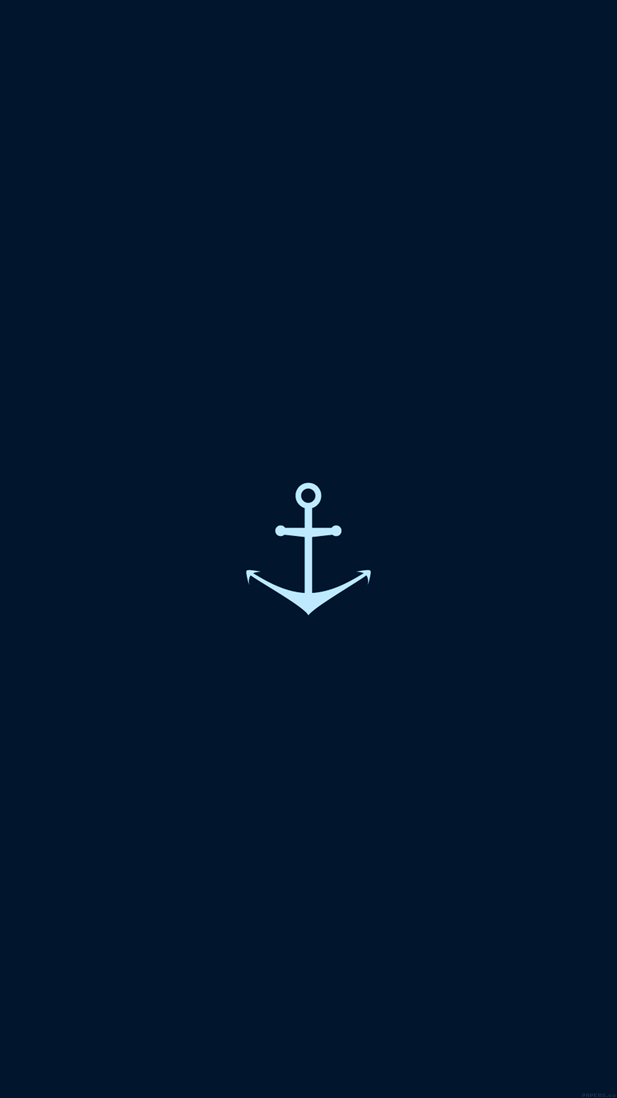 Chevron Iphone 5 Wallpaper Ah28 Minimal Sea Anchor Logo Blue Art Papers Co