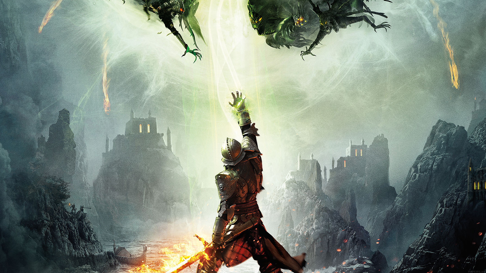 Cool Cute Wallpaper For Iphone Ah66 Dragon Age Inquisition Game Illust Art Electronic