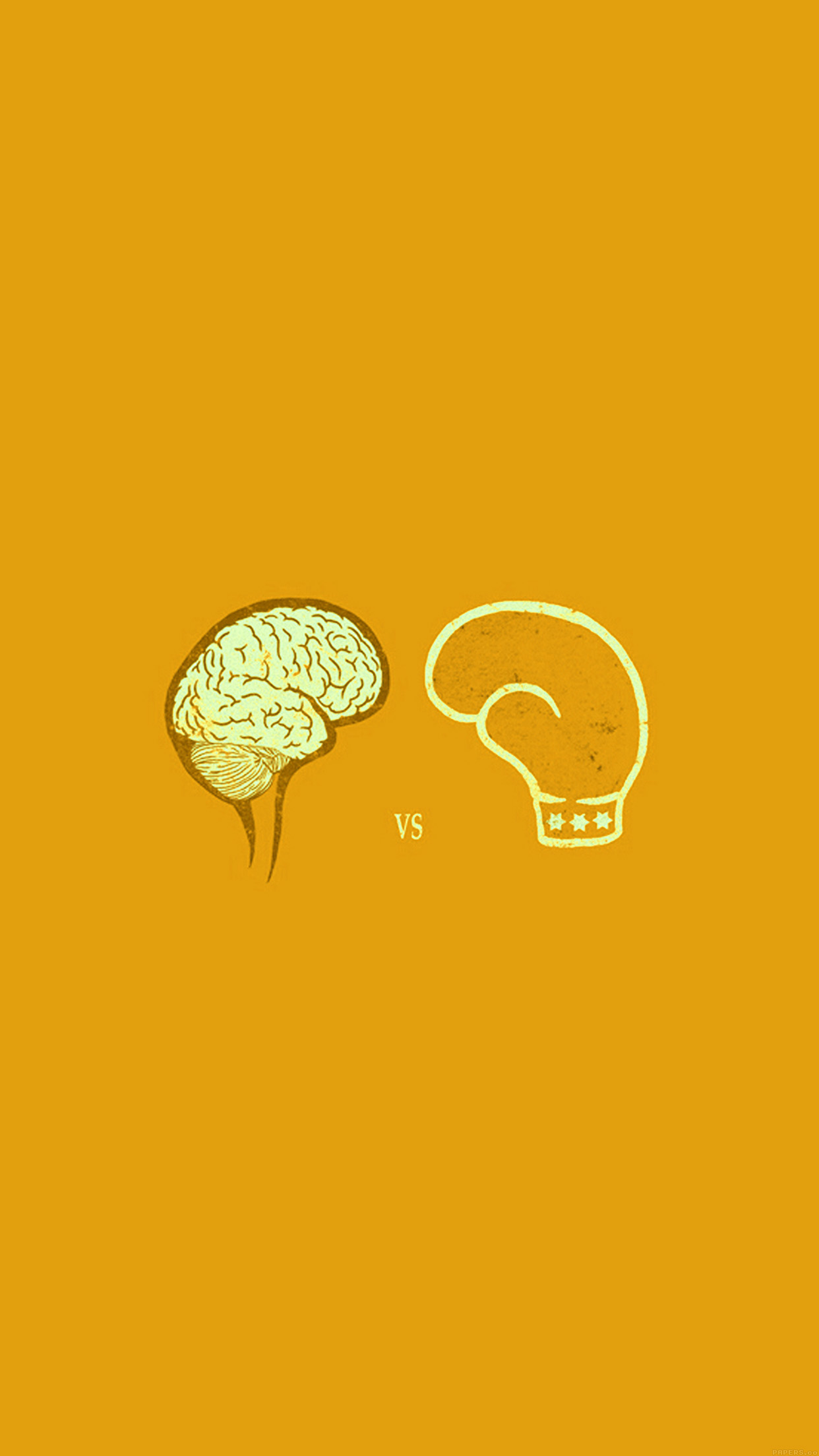 Samsung Note 4 Car Wallpapers Ai23 Brain Vs Boxing Illust Gold Minimal Art Wallpaper