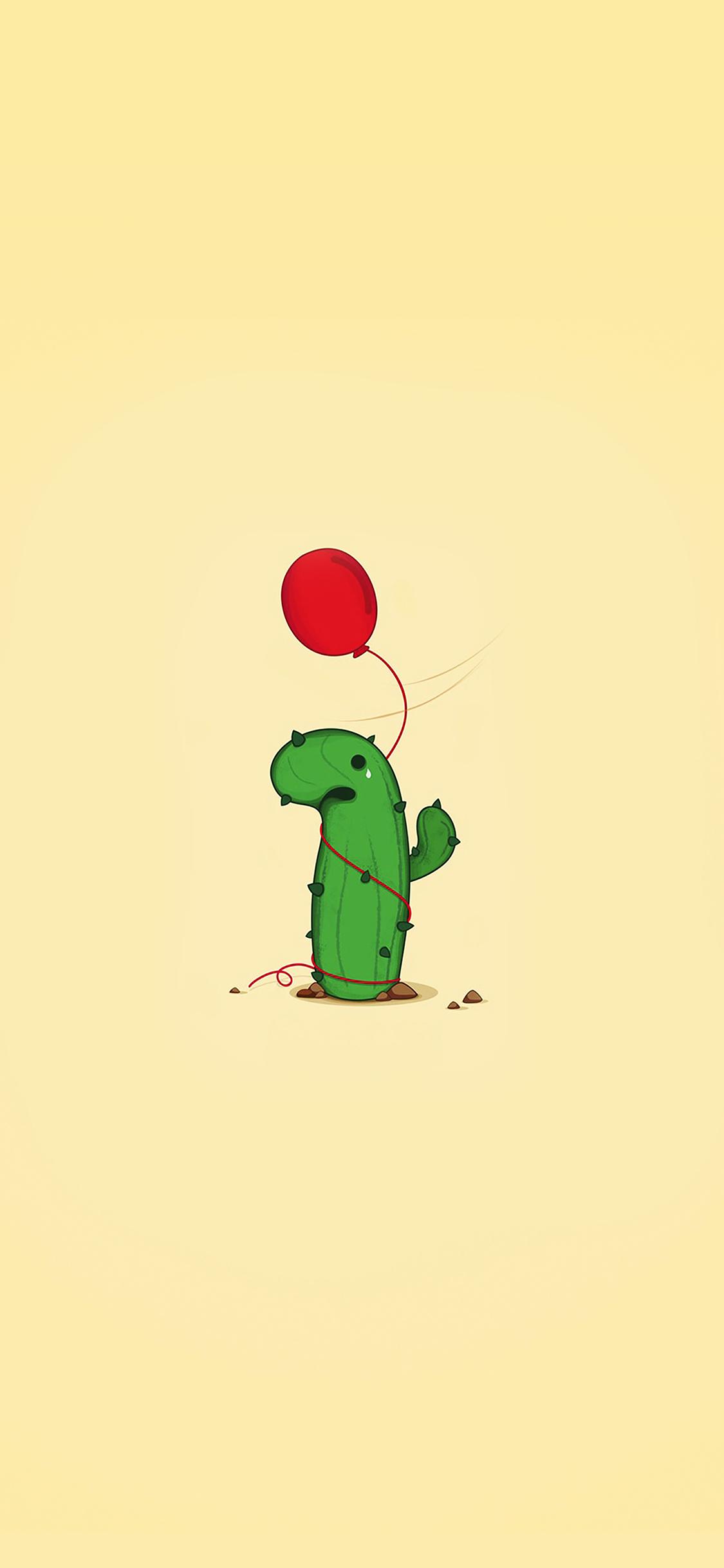 Cute Cactus Wallpaper Macbook Ai35 Cute Cactus Ballon Illust Art Minimal