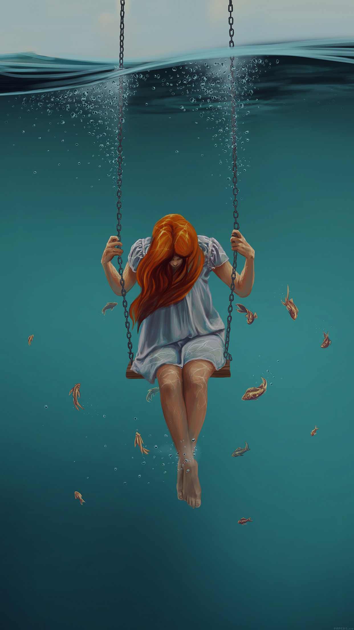 Sad Small Girl Wallpapers Ai92 Swing Art Painting Girl Dark Papers Co