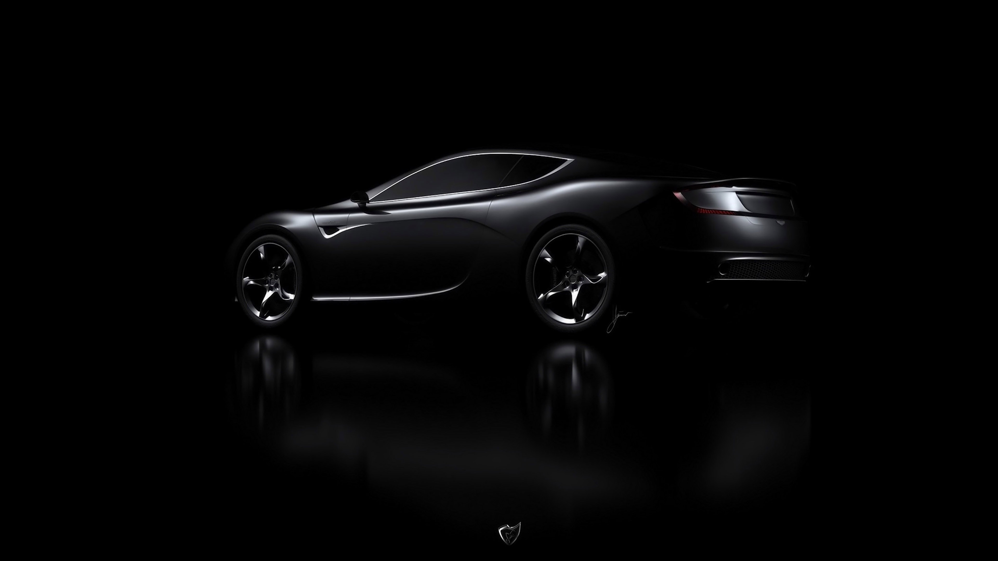 Future Car Wallpaper Minimal Aj06 Aston Martin Black Car Dark Wallpaper