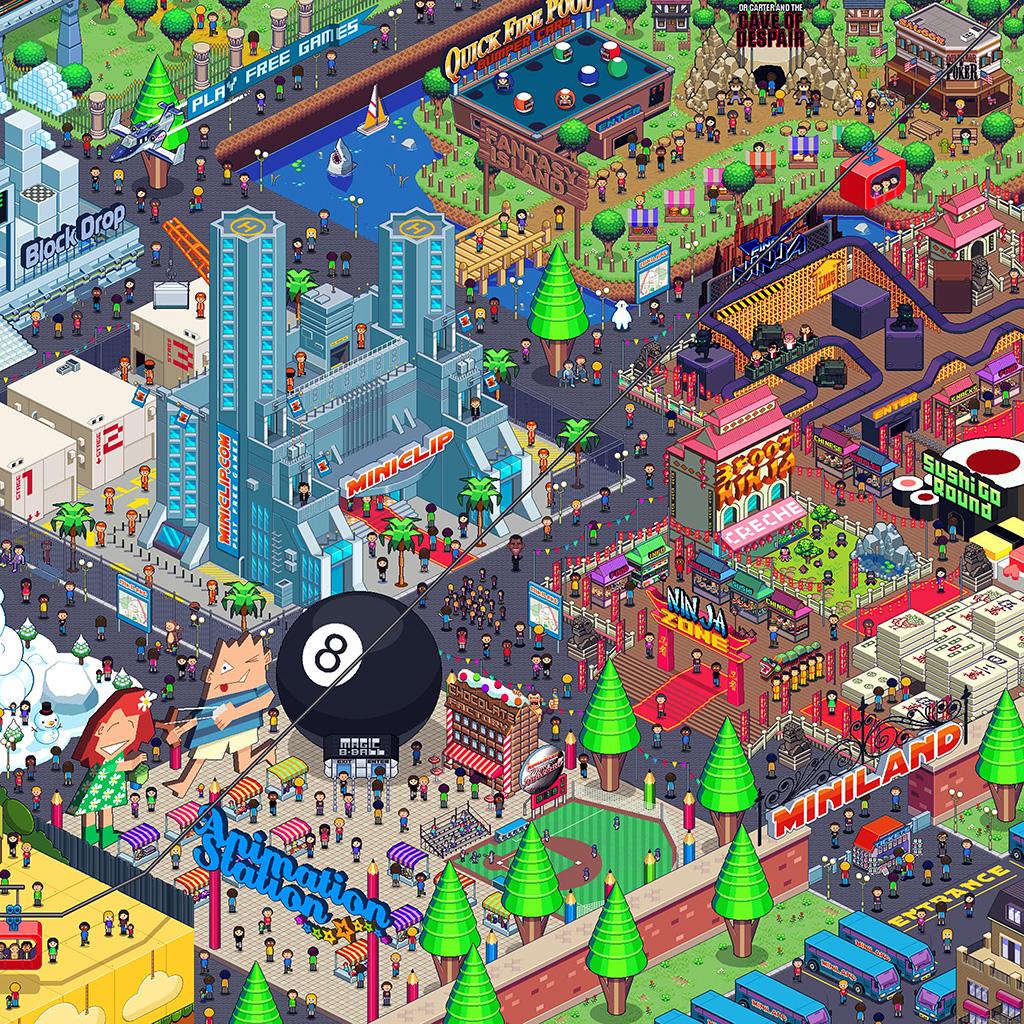 3d Butterfly Wallpaper Desktop Aj26 Pixel Art City By Army Of Trolls Wallpaper