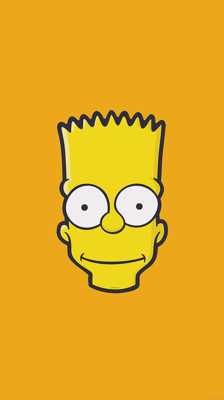 Cute Winnie The Pooh Iphone Wallpapers Aj30 Bart Face Art Illust Yellow Simpsons Minimal Simple