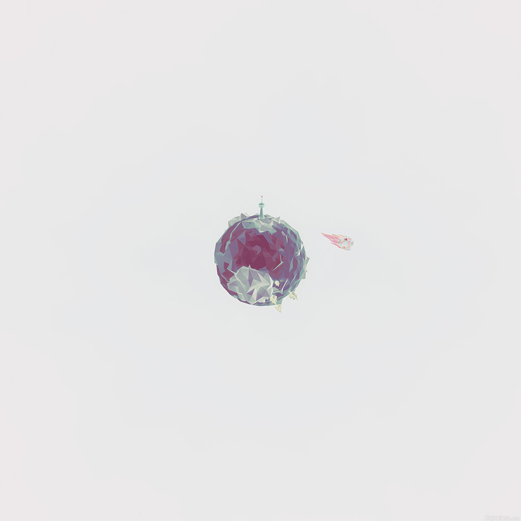 Cute Pattern Iphone 5 Wallpaper Aj33 Polygon Planet Cute Minimal Simple Art White Wallpaper