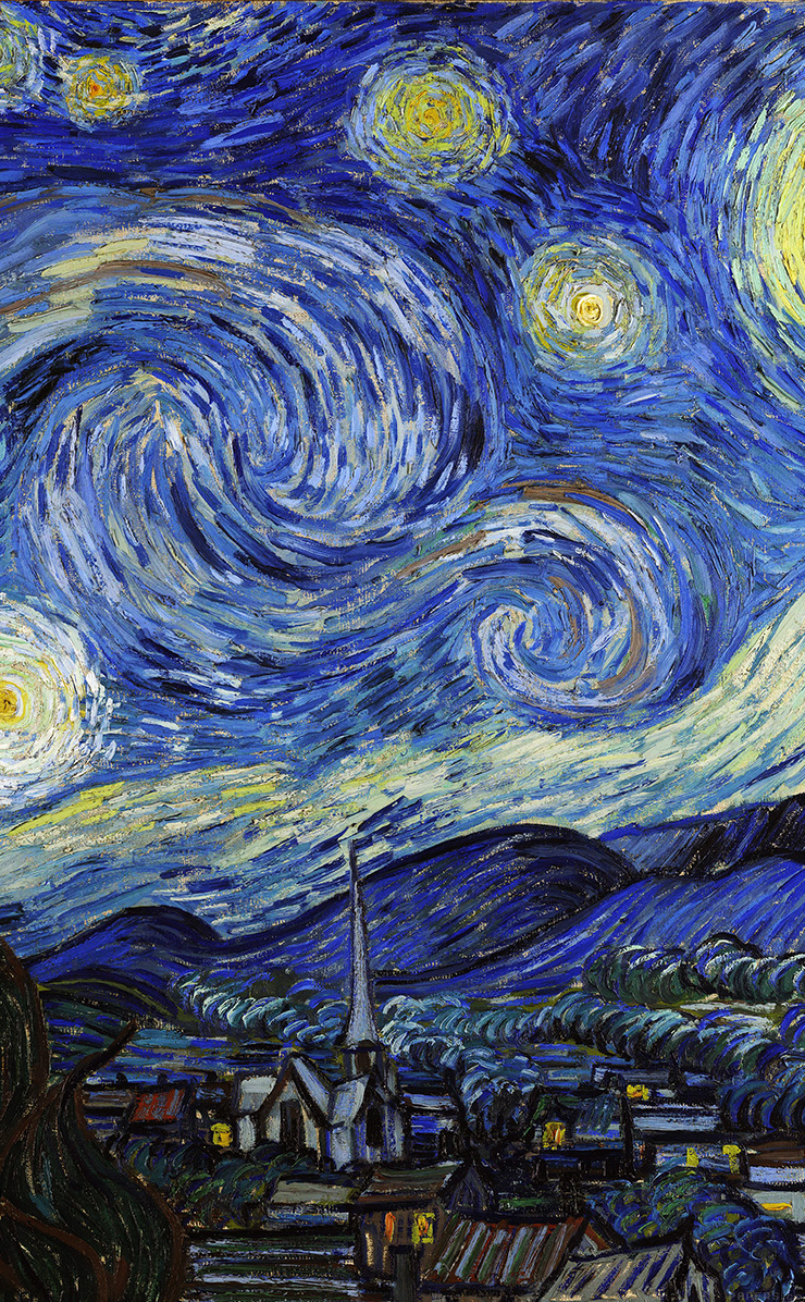 Van Gogh Starry Night Iphone Wallpaper Normal