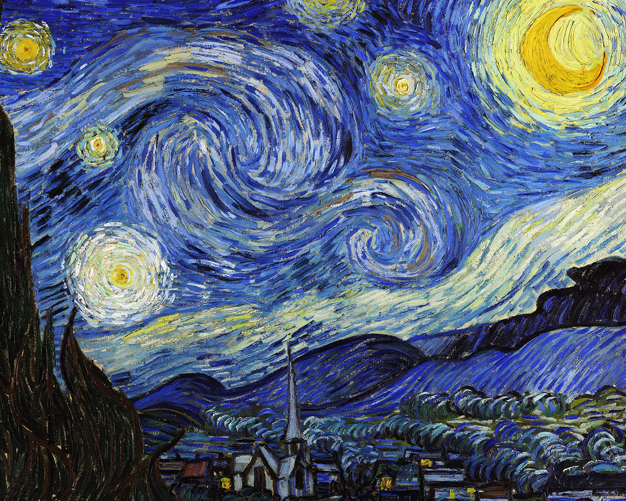Van Gogh Starry Night Iphone Wallpaper 1440 X 900