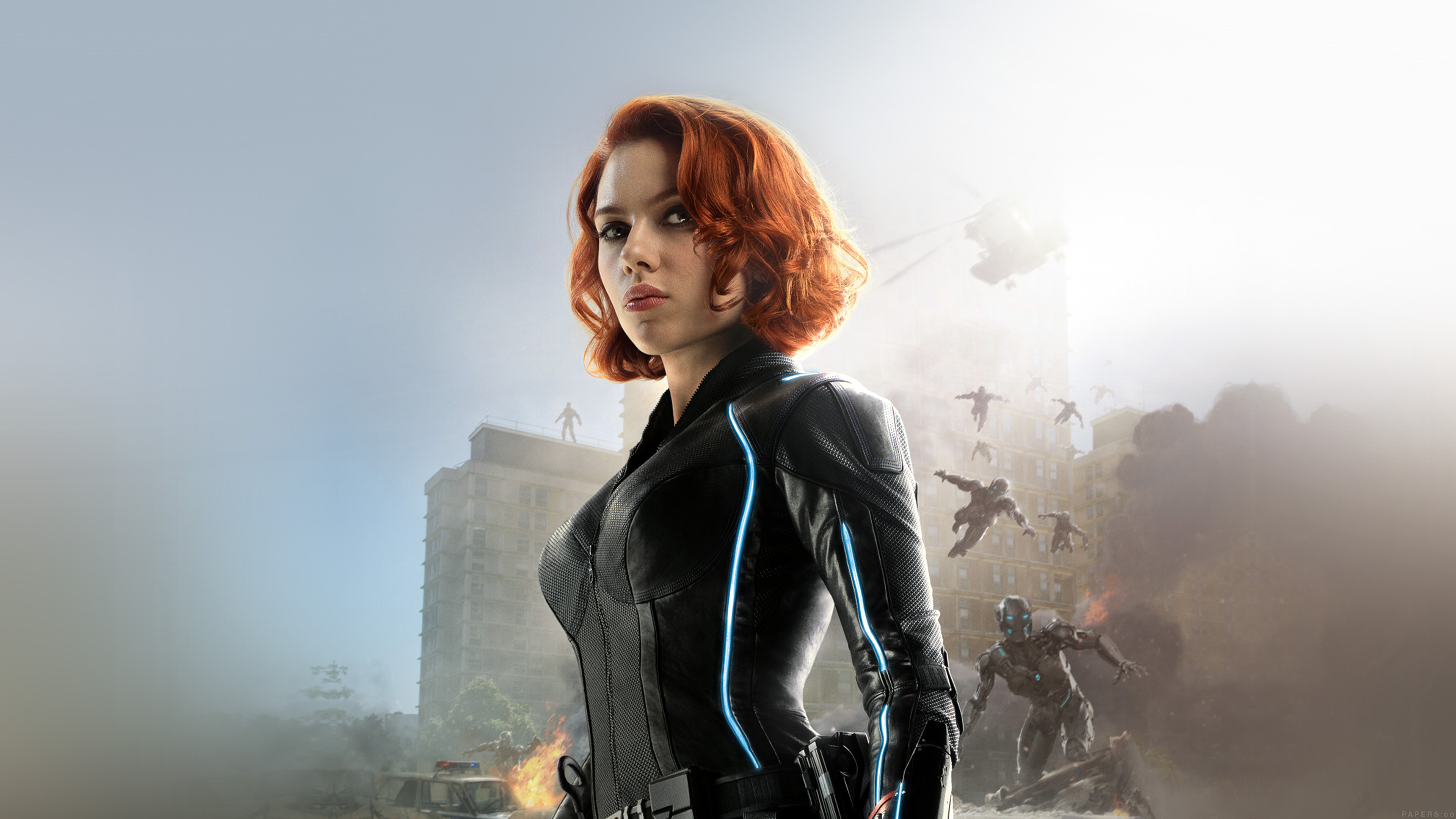 Cute Fall Desktop Wallpaper Ak77 Avengers Age Of Ultron Scarlett Johansson Black Widow