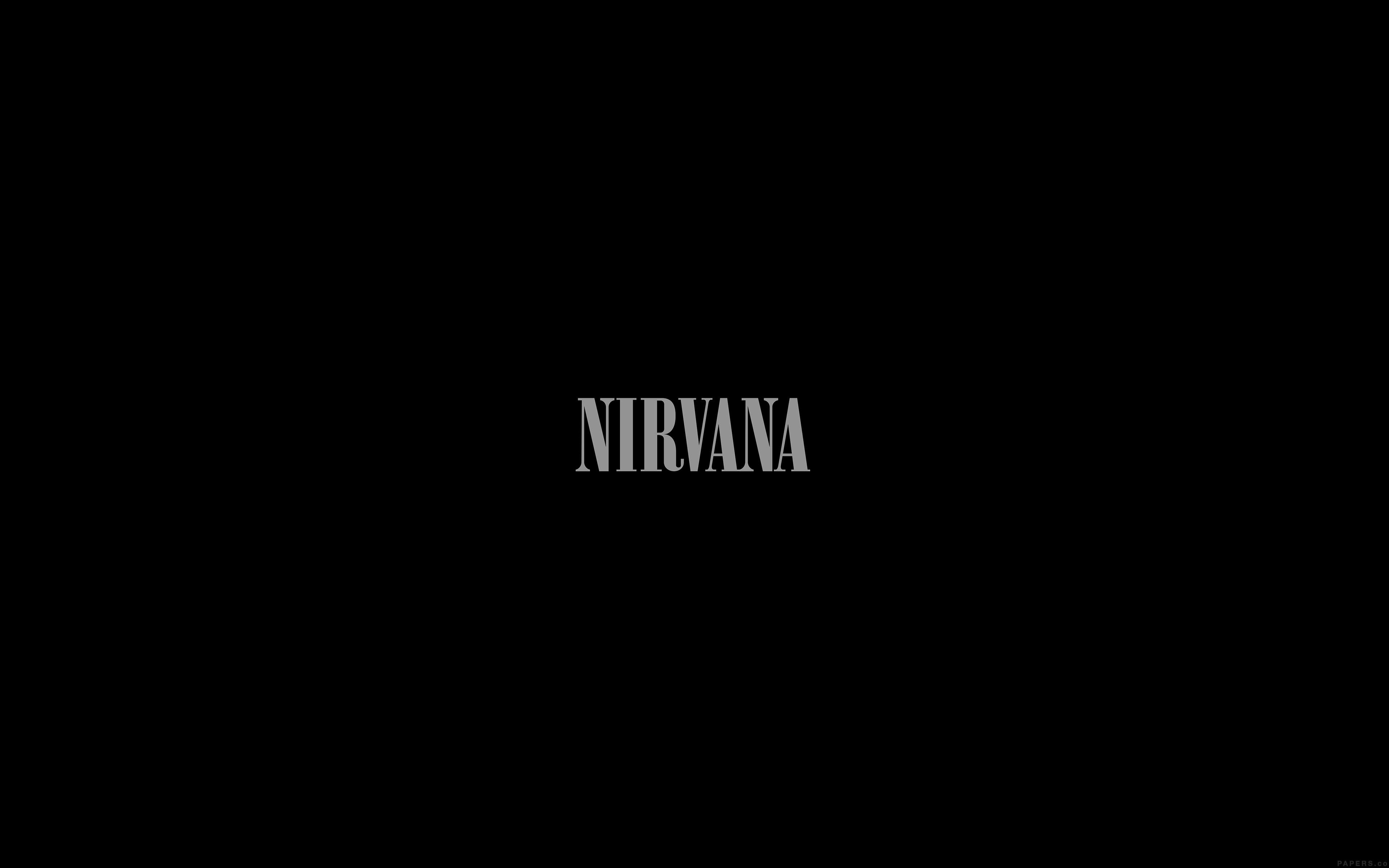 Iphone 5 Wave Wallpaper Ak78 Nirvana Dark Logo Simple Minimal Music Wallpaper