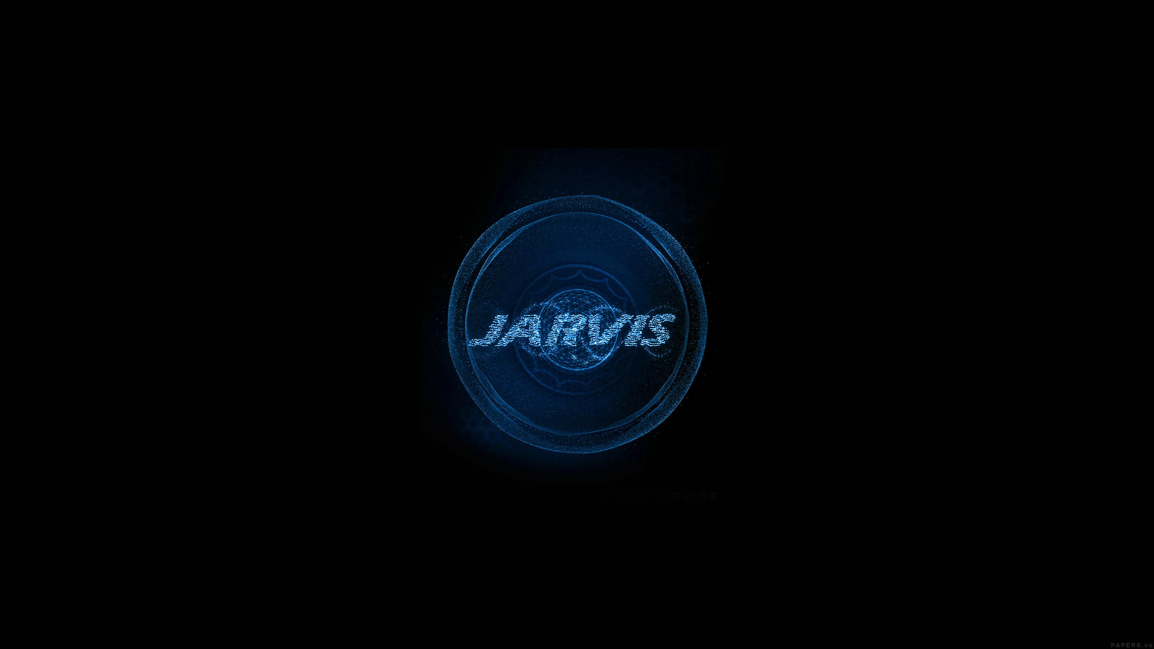 Windows 10 Wallpapers Hd Fall Al49 Jarvis Ironman Art Minimal Blue Wallpaper