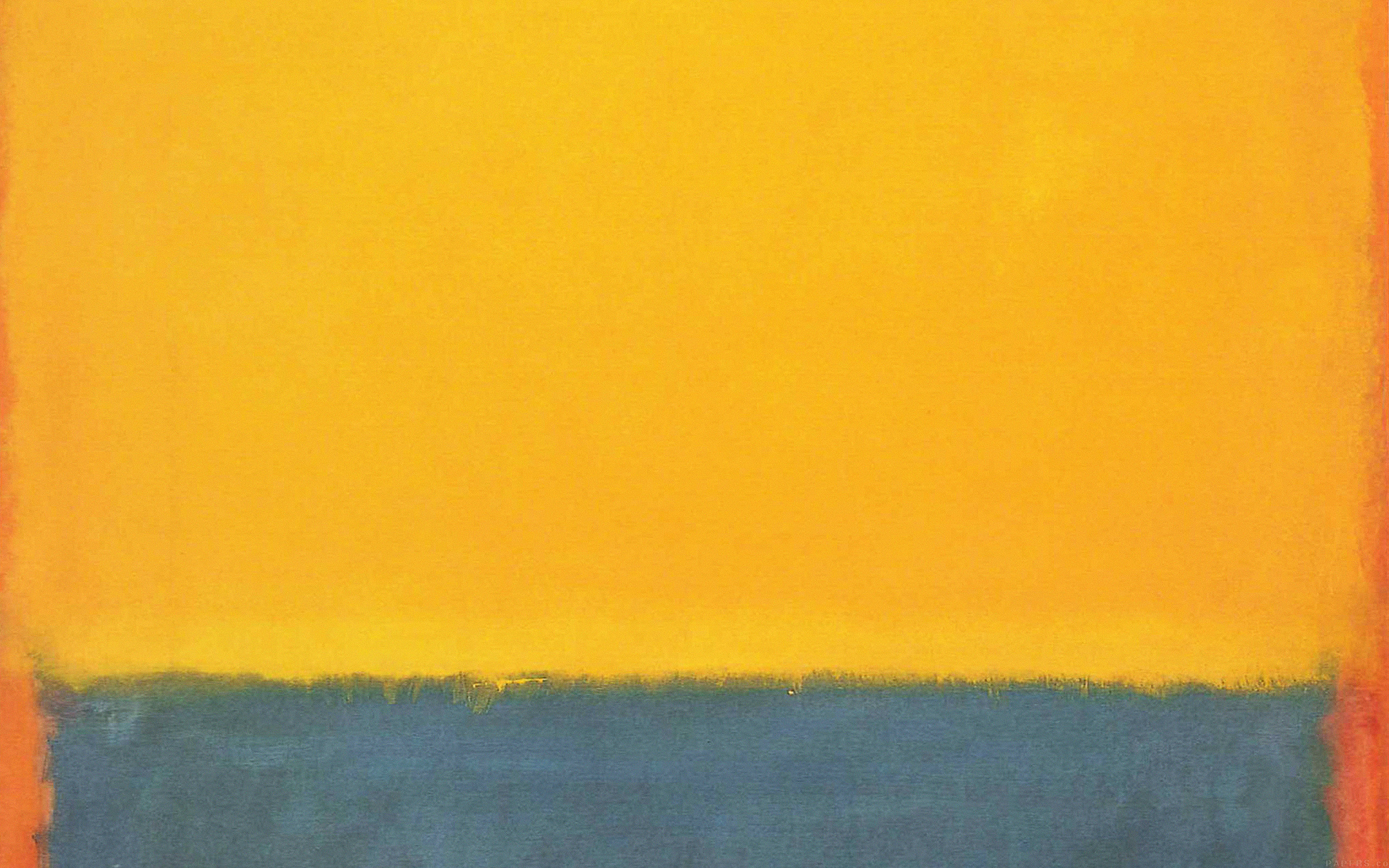 Iphone Cloud Wallpaper Al62 Classic Mark Rothko Style Paint Art Yellow Papers Co