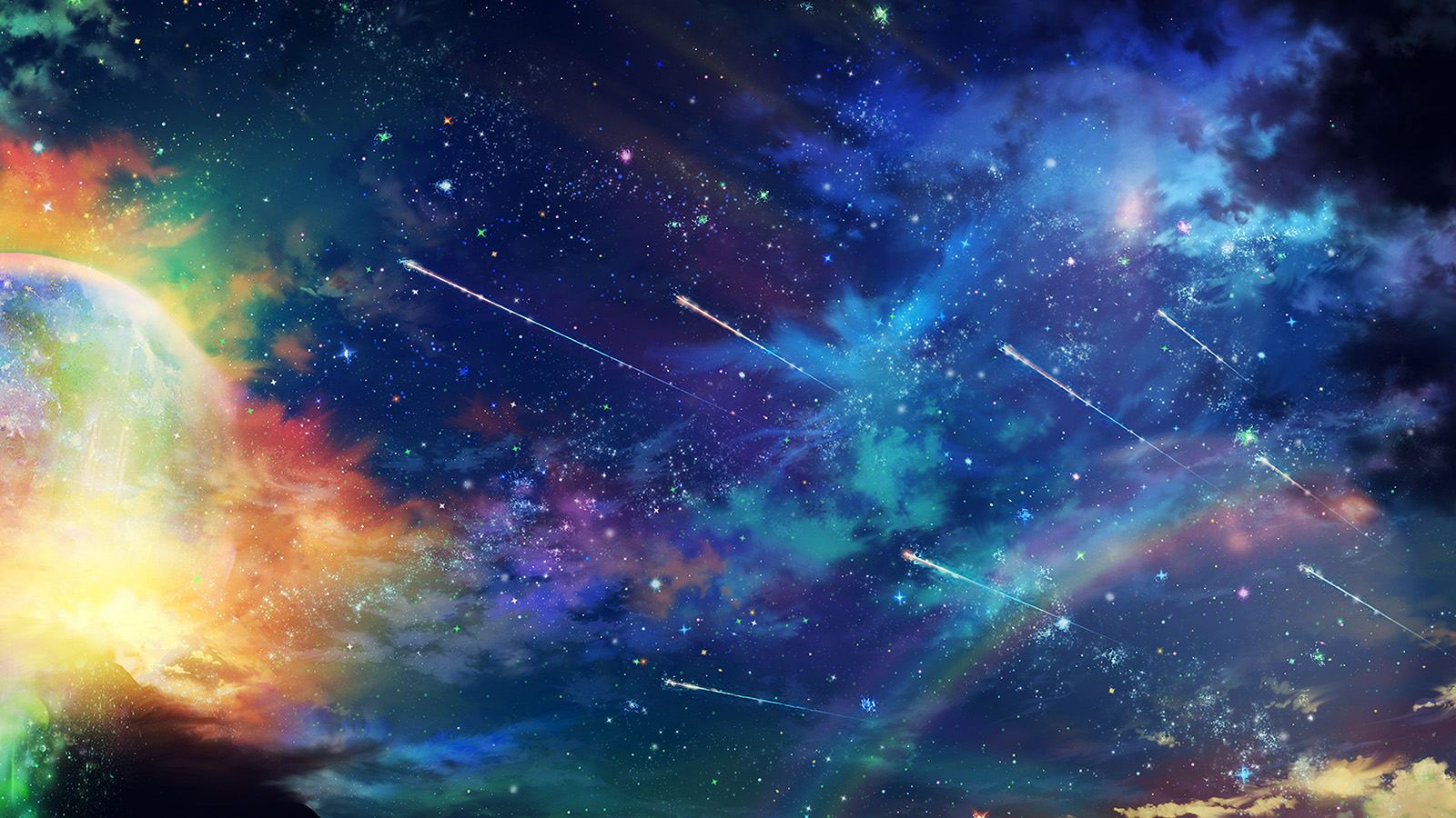 Anime Fall Wallpaper Am61 Amazing Wonderful Tonight Sky Dark Star Space Wallpaper