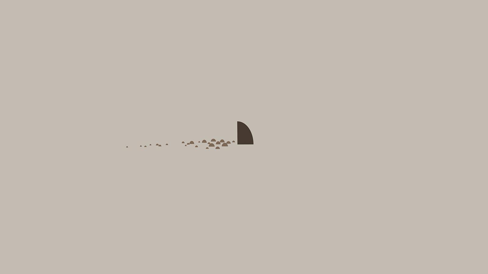 Cute Fall Wallpaper Backgrounds An33 Minimal Simple Shark Sea Illust Art Cute Wallpaper