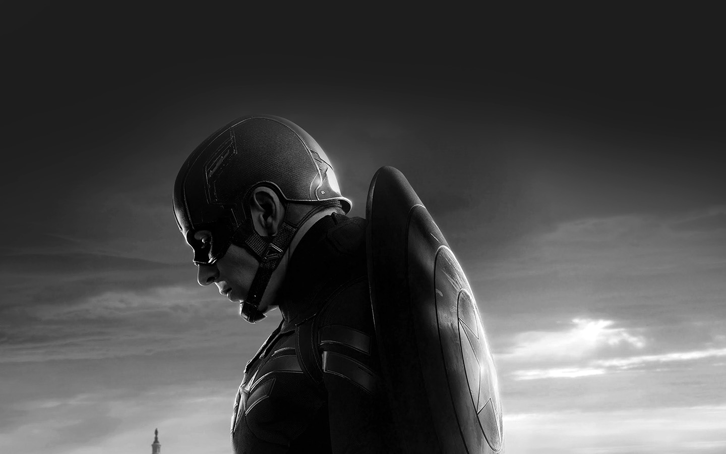 Classic Iphone Wallpaper For Iphone X An85 Captain America Sad Hero Film Marvel Dark Bw Wallpaper