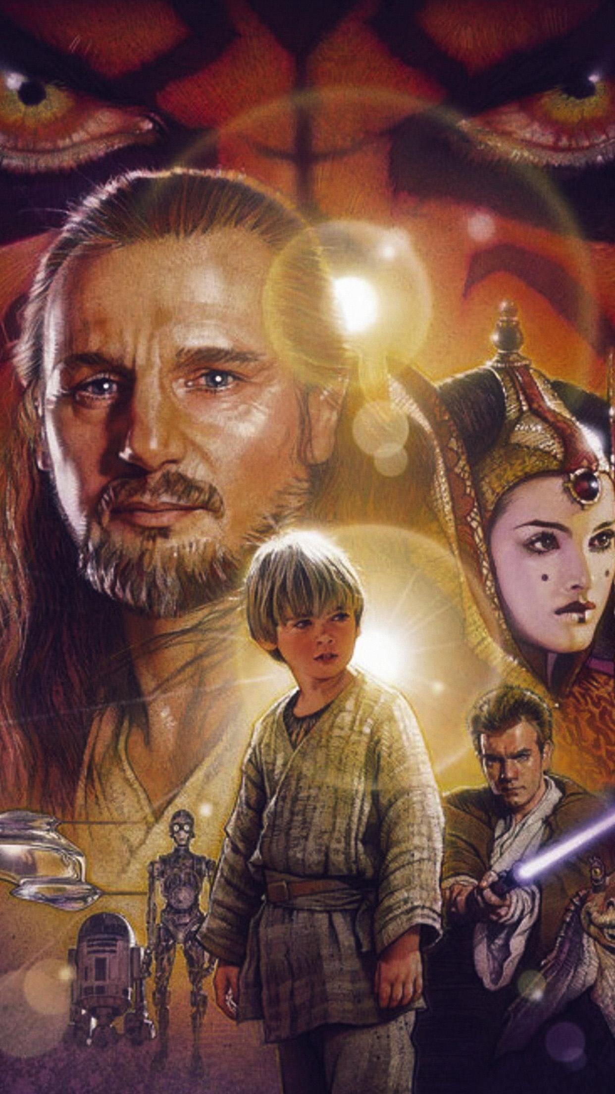Lego Star Wars Iphone Wallpaper I Love Papers Ao44 Starwars Episode 1 Art Illust Poster Film