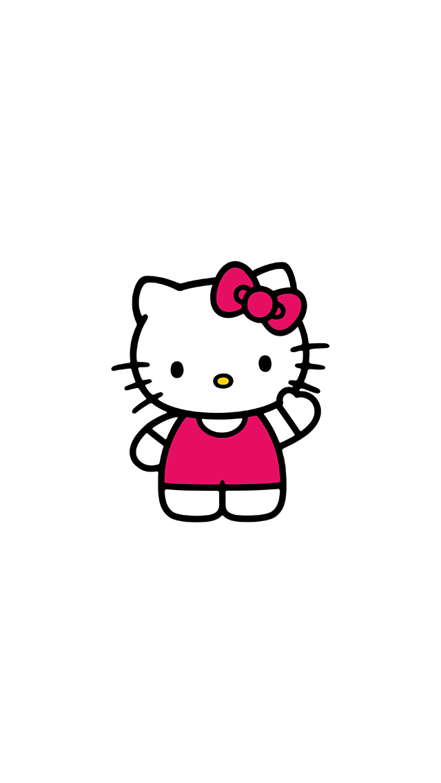 Cute Bow Iphone Wallpaper Ao80 Hello Kitty Art Cute Logo Minimal Papers Co