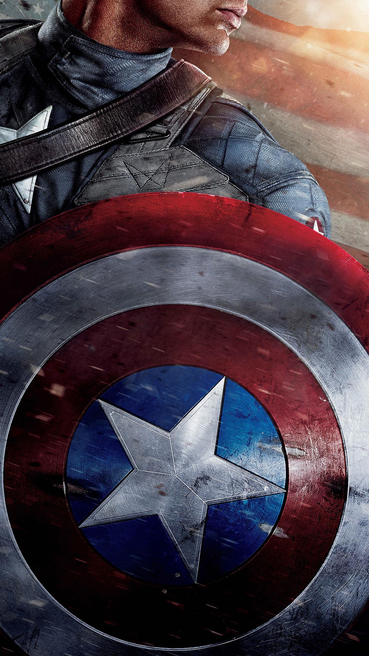 Hd 3d Droid Wallpapers Ap29 Captain America Poster Film Hero Art Wallpaper