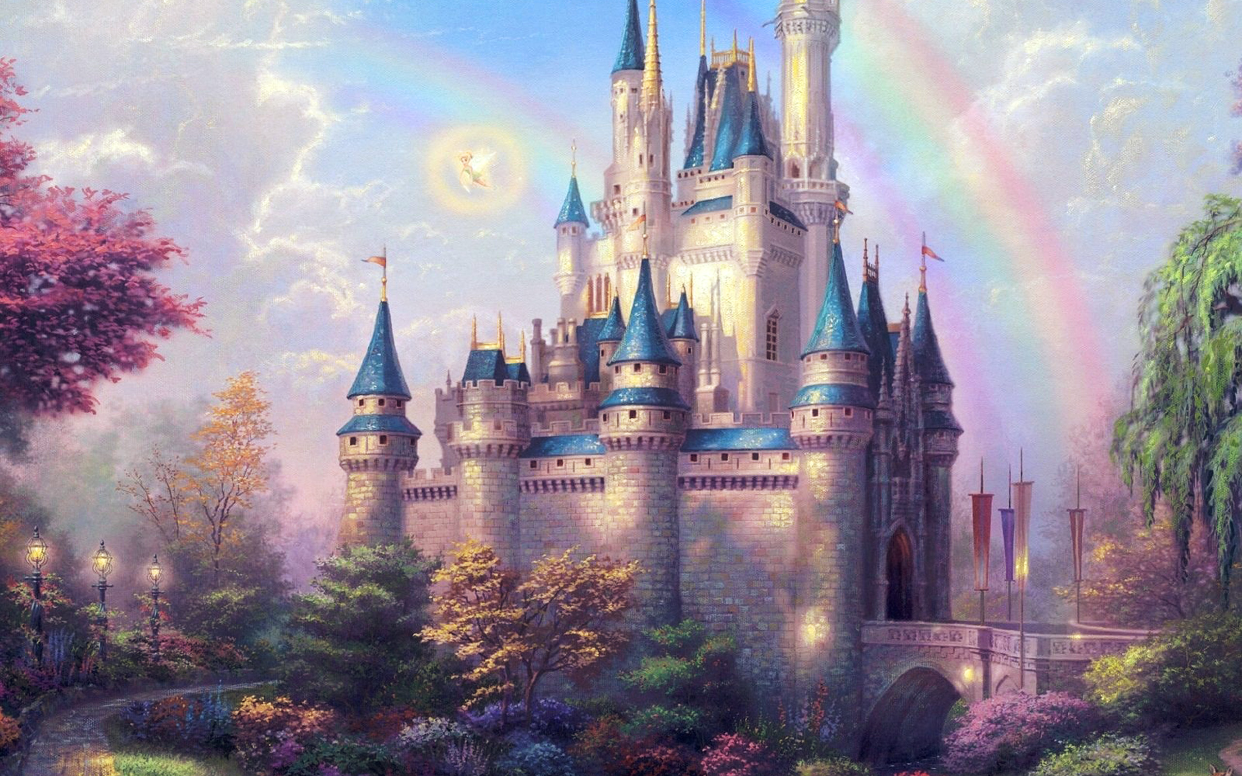 Cute Disney Ipad Wallpaper Ap98 Fantasy Castle Illustration Cute Disney Wallpaper