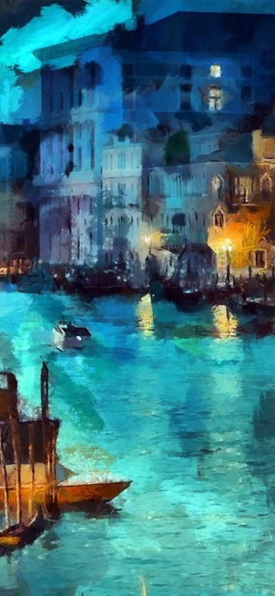 iPhoneXpapers.com-Apple-iPhone-wallpaper-aq32-art-classic-painting-water-lake-night-blue