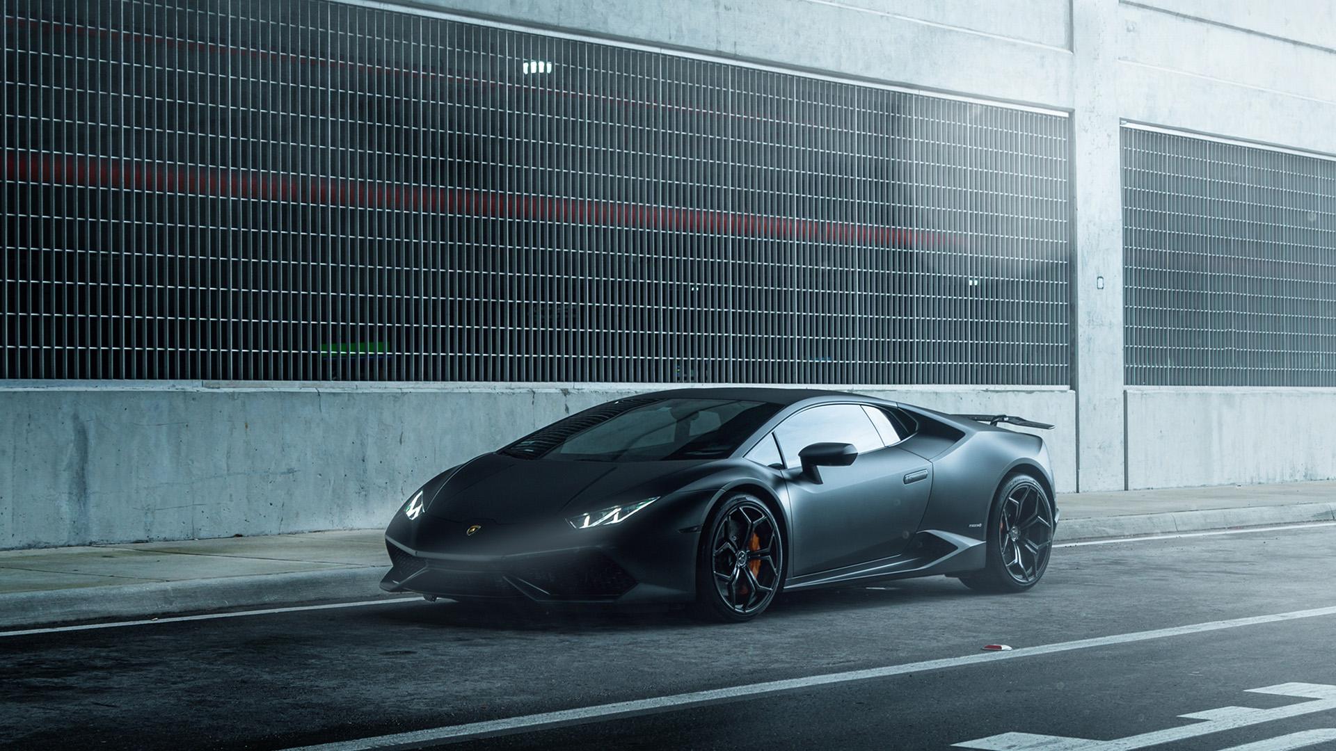 Fall Desktop Wallpaper Widescreen Free Aq49 Lamborghini Huracan Vellano Matte Black Car Wallpaper