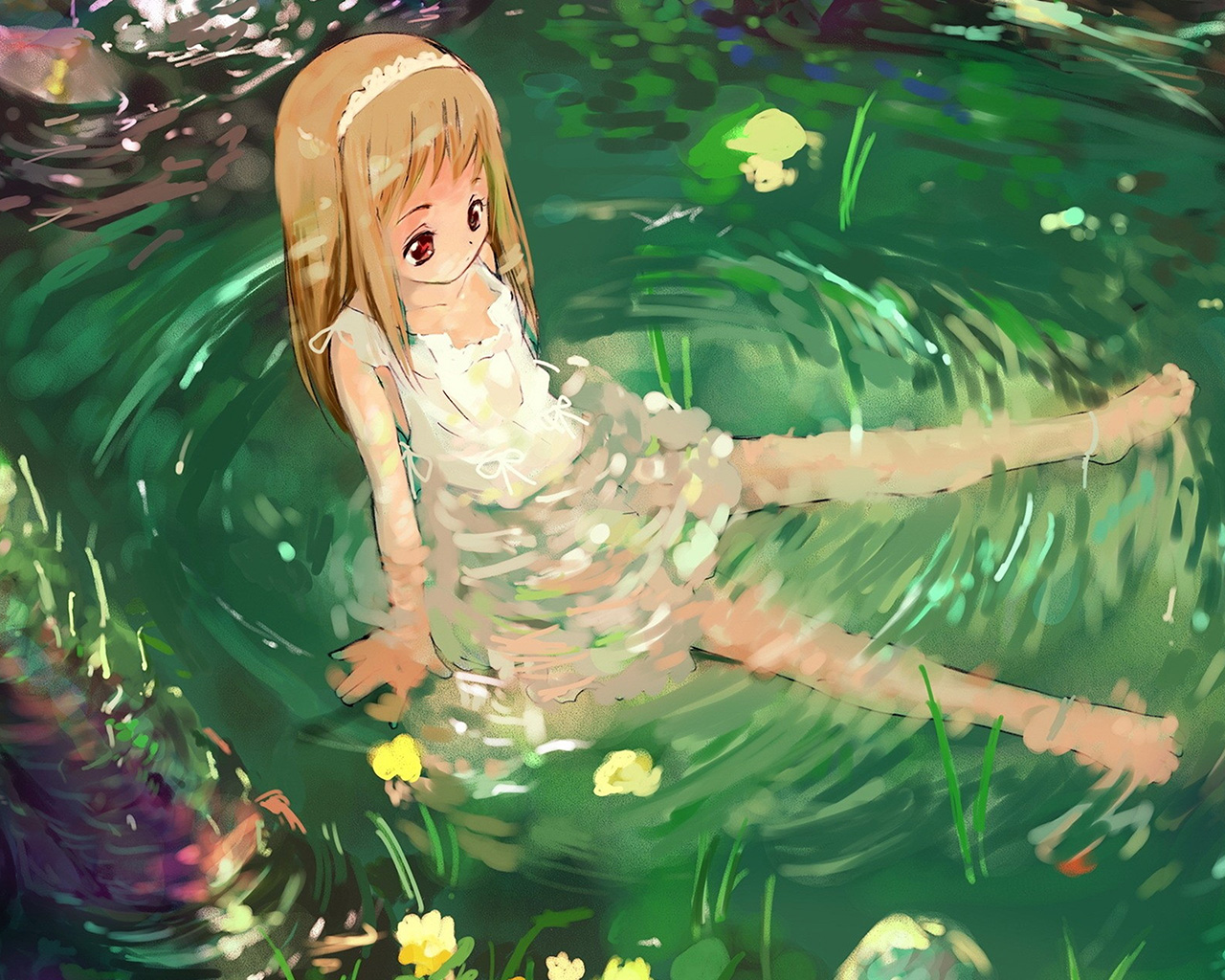 Pretty Fall Iphone Wallpapers Aq59 Girl Cute Anime Water Wallpaper
