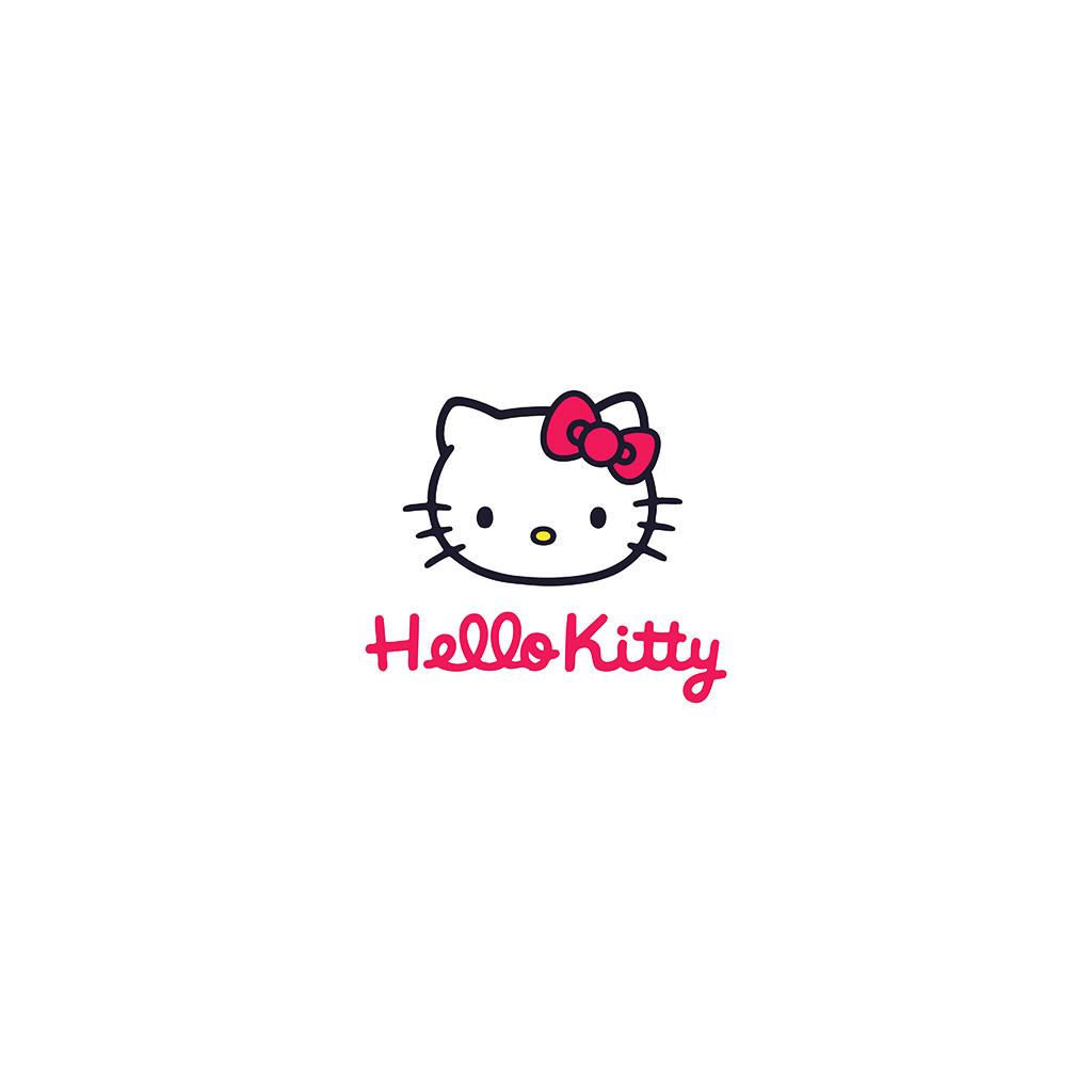 Cute Hello Kitty Wallpapers For Iphone Aq67 Hello Kitty Logo Art Cute White Wallpaper