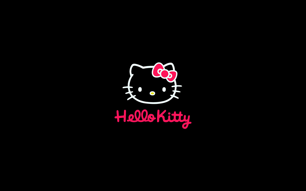Cute Wallpapers Of Hello Kitty Aq68 Hello Kitty Logo Art Cute Dark Wallpaper