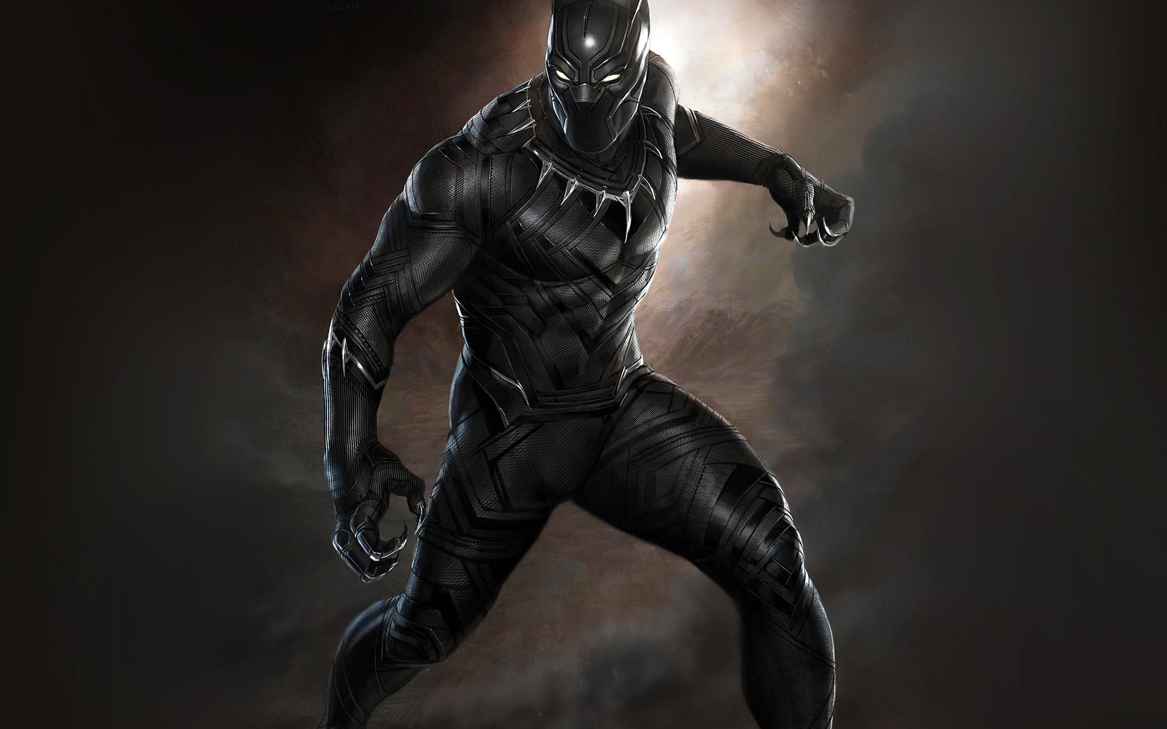 Wallpaper Macbook Air Fall Art Aq76 Black Panther Art Hero Captain America Wallpaper