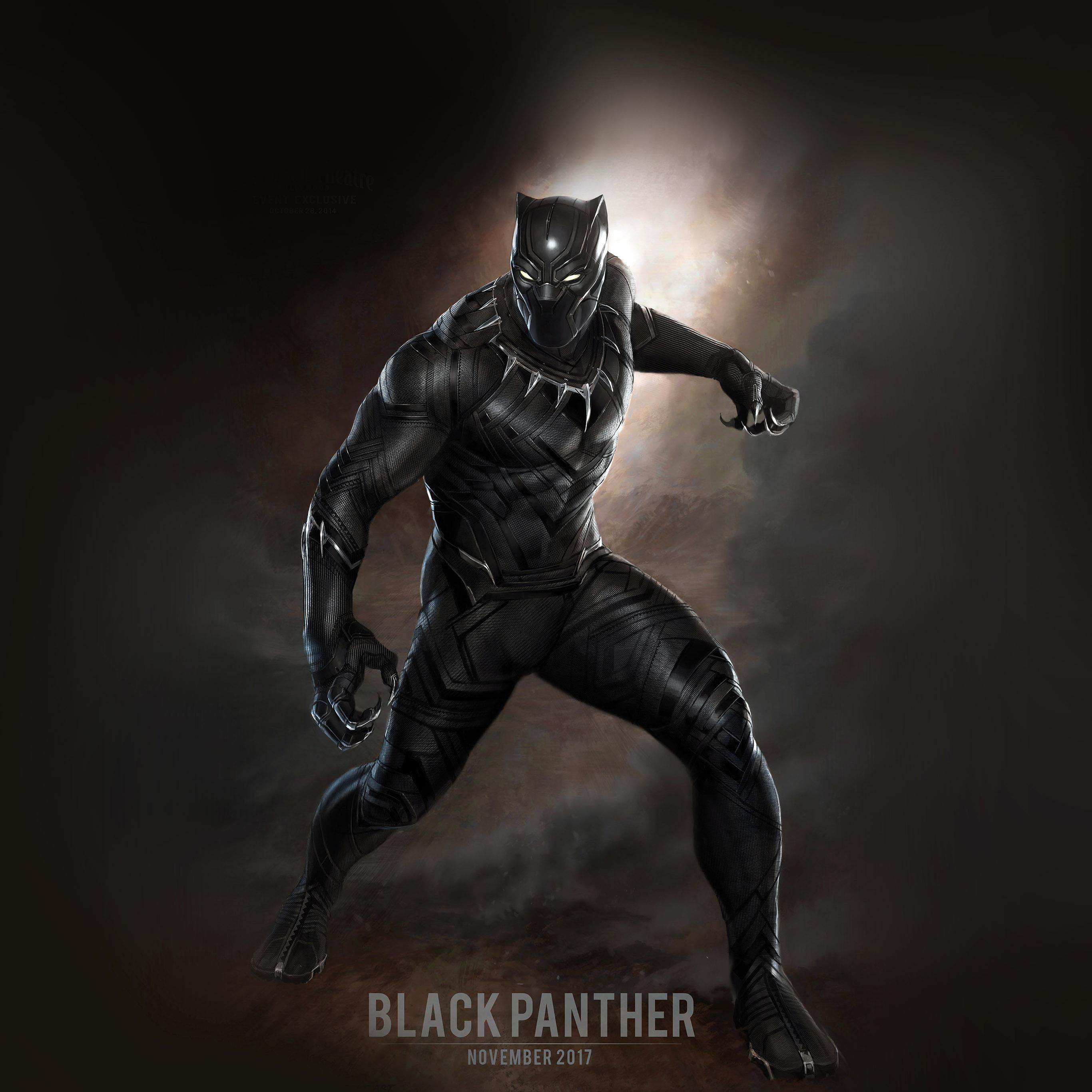 Lg Optimus Wallpaper Hd Aq76 Black Panther Art Hero Captain America Wallpaper