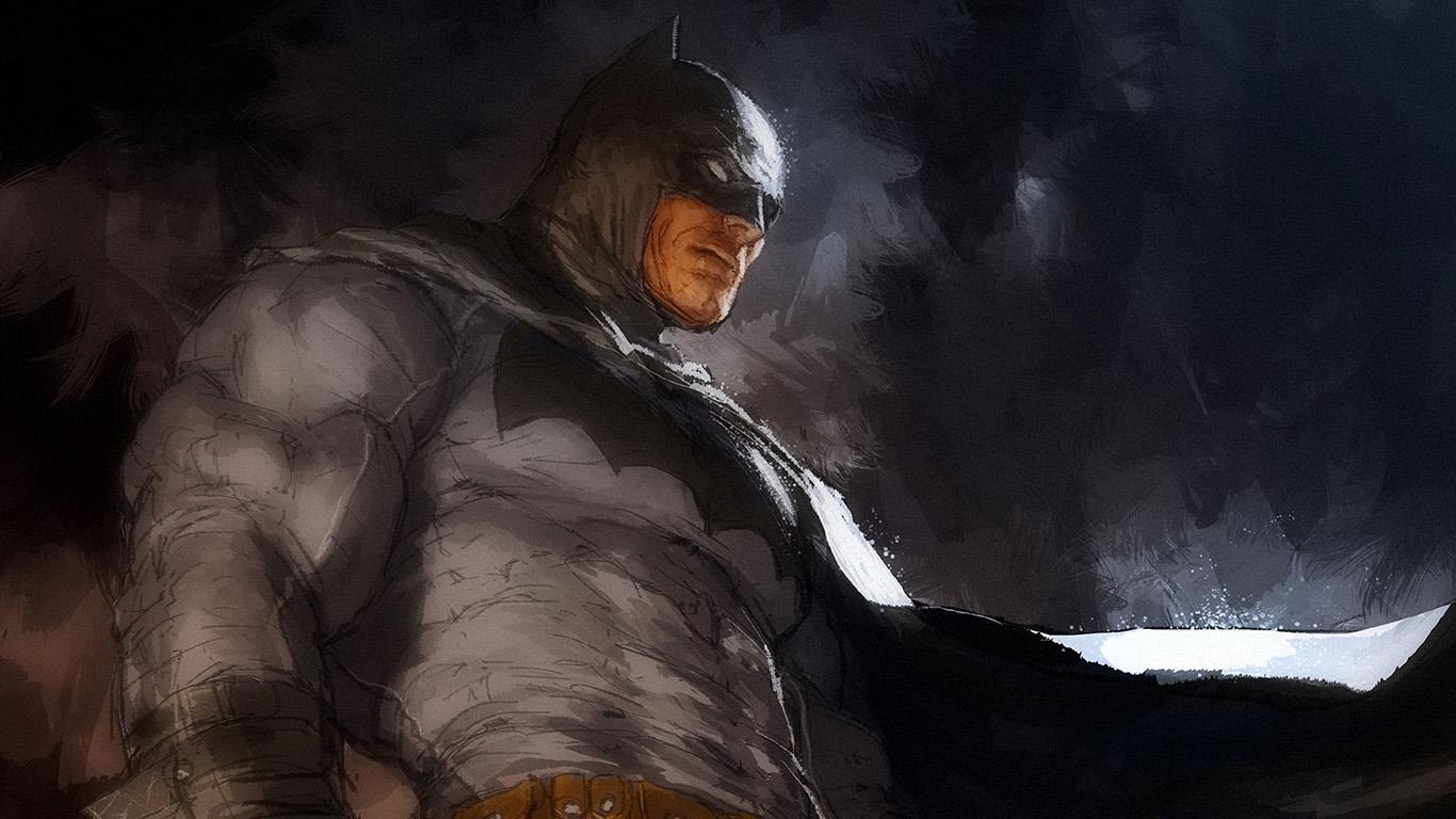 The Dark Knight Iphone Wallpaper Ar14 Batman Art Illustration Darknight Paint Wallpaper
