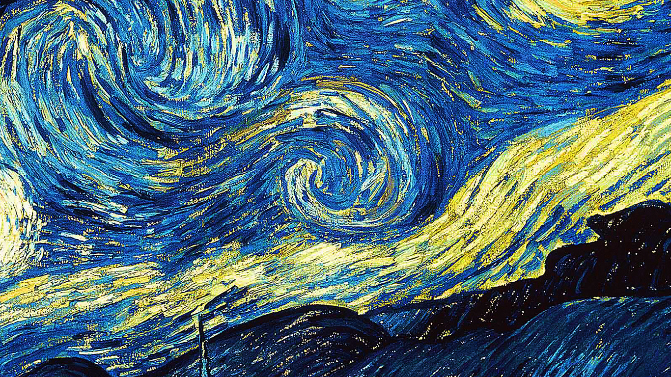Van Gogh Starry Night Iphone Wallpaper Ar55 Vicent Van Gogh Starry Night Art Classic Wallpaper