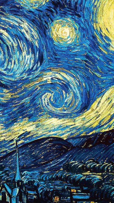 PAPERS.co   iPhone wallpaper   ar55-vicent-van-gogh-starry-night-art-classic