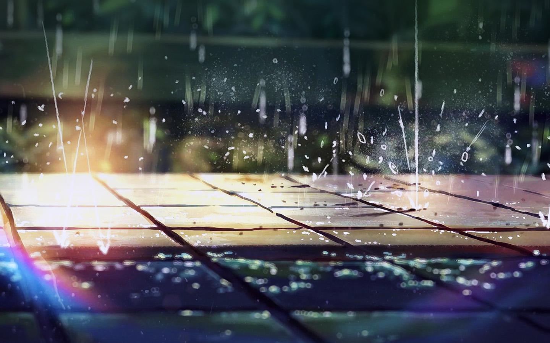 Iphone 5 Wave Wallpaper Ar79 Rainning Illustration Anime Art Nature Flare Wallpaper