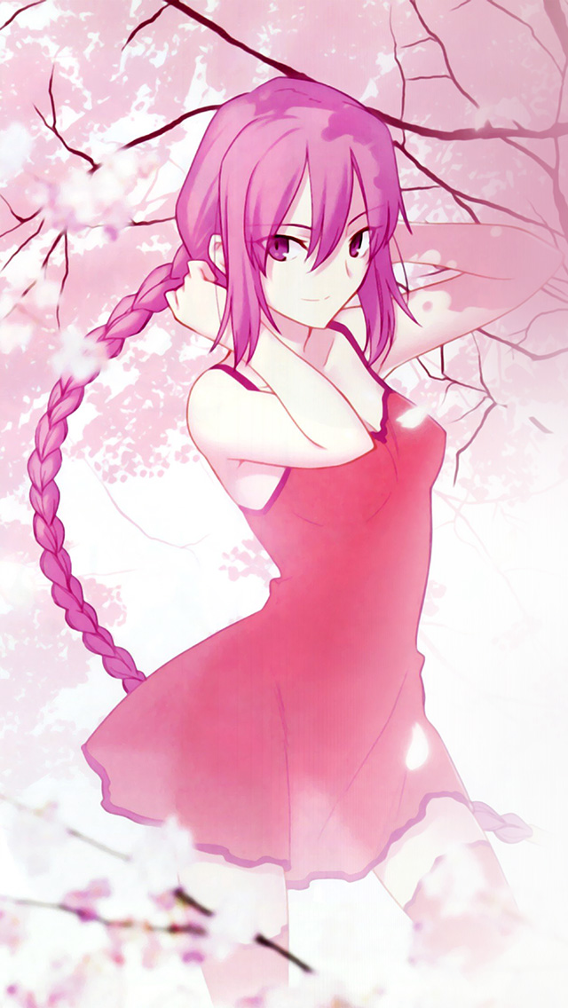 Crying Girl Wallpapers Rain Freeios7 Com Iphone Wallpaper Ar80 Pink Girl Anime Art