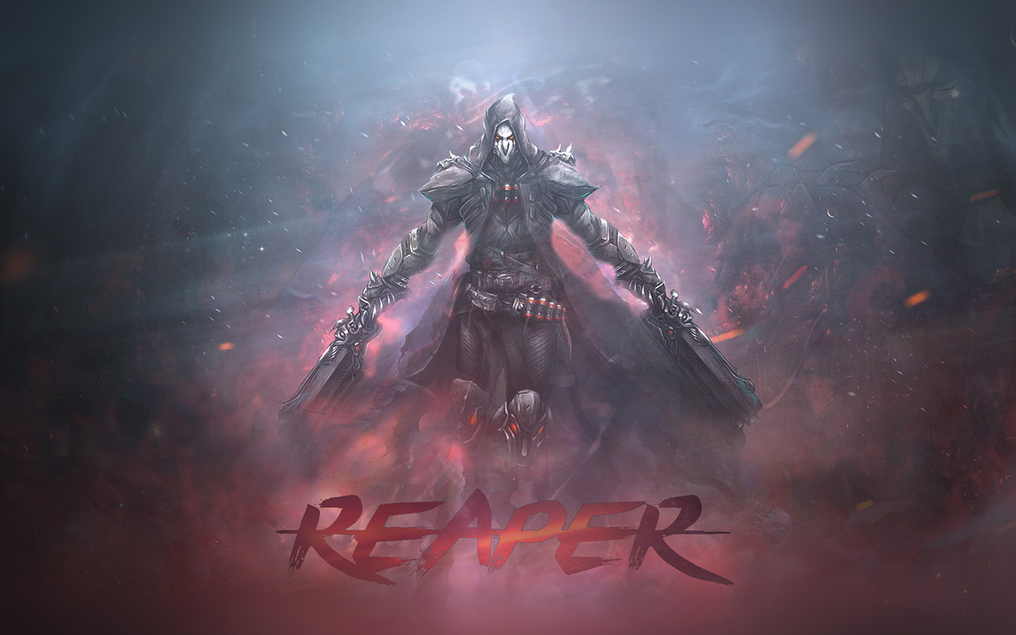 Iphone 4 Car Wallpapers Hd Ar99 Overwatch Reaper Game Art Illustration Wallpaper
