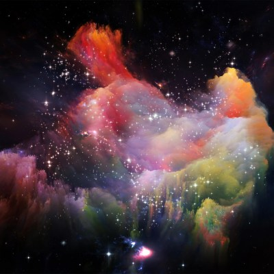 I Love Papers | as36-space-rainbow-colorful-star-art-illustration-red