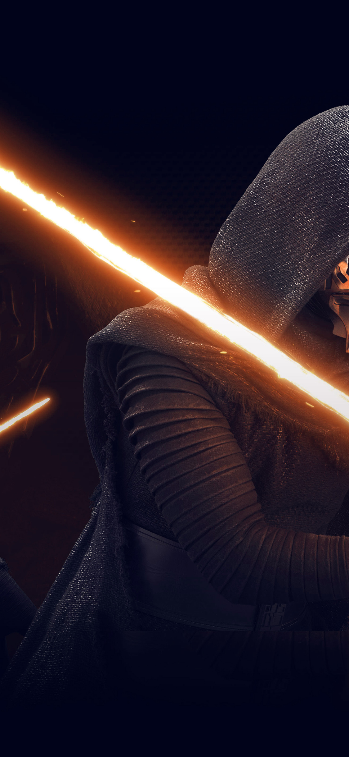 Google Desktop Wallpaper Hd At11 Starwars Kylo Ren Dark Orange Lightsaber Art
