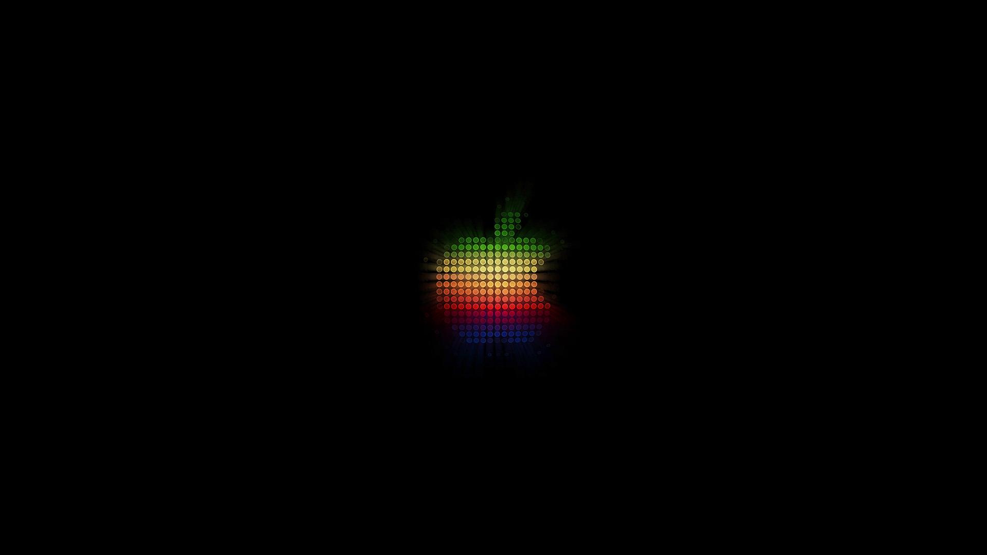 Black Iphone 7 Wallpaper Wallpaper For Desktop Laptop At40 Logo Apple Rainbow