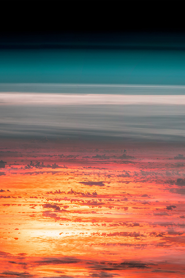 Samsung Note 2 Car Wallpaper At67 Sunset Sky From Space Art Red Earthview Illustration