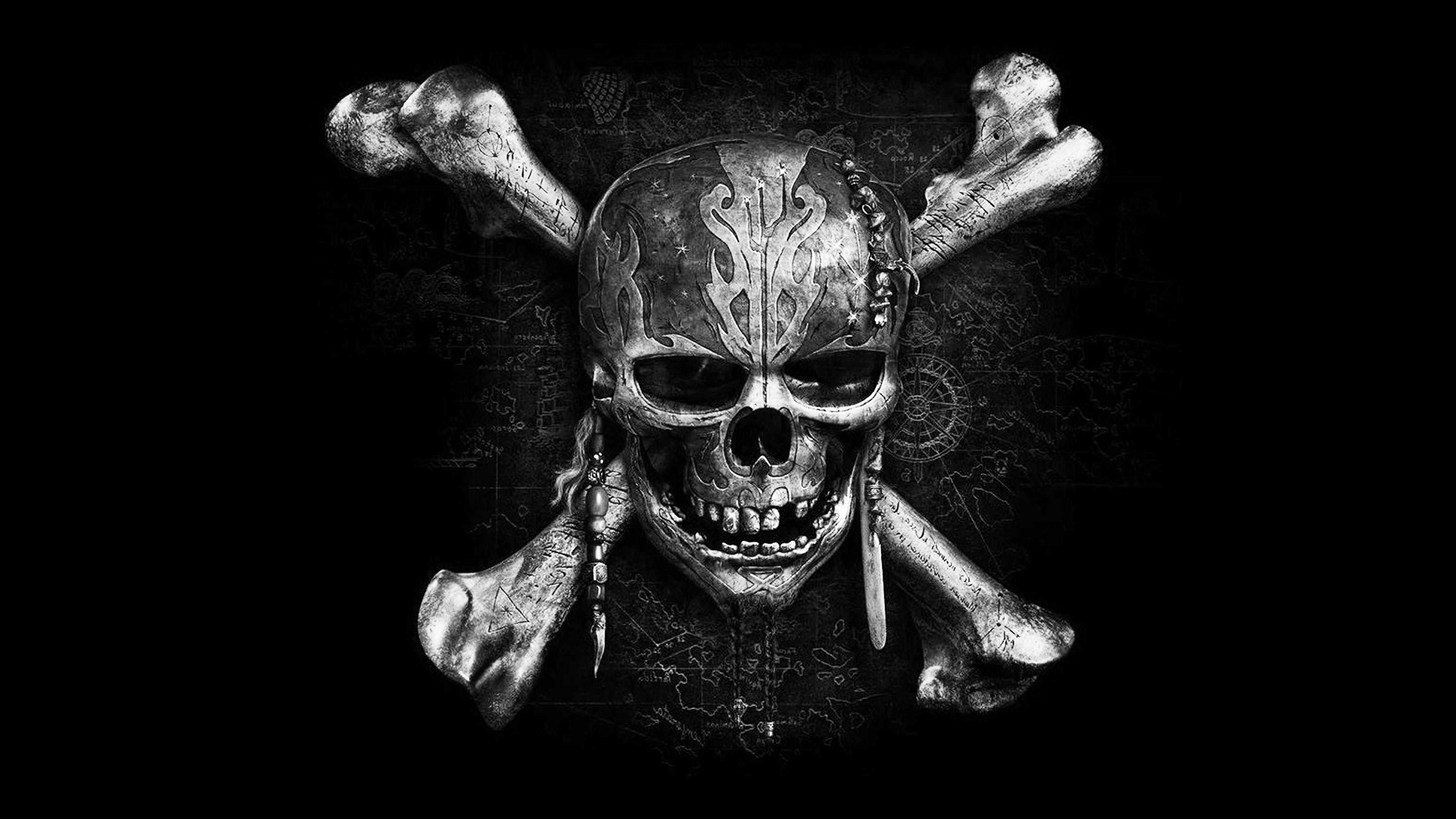 Fall Desktop Wallpaper Illustration At84 Pirates Dark Skull Art Illustration Bw Wallpaper