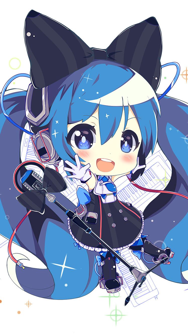 Cute Wallpaper Galaxy Note Au26 Hatsune Miku Anime Girl Blue Illustration Art Cute