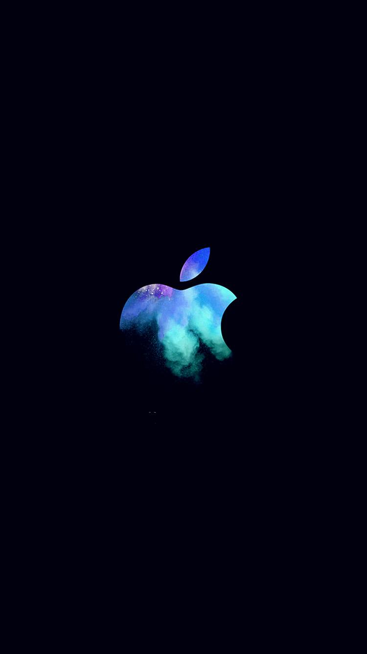 Oled Wallpaper Iphone X Au33 Apple Mac Event Logo Dark Illustration Art Blue Wallpaper