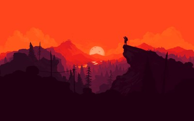 au35-nature-sunset-simple-minimal-illustration-art-red-wallpaper